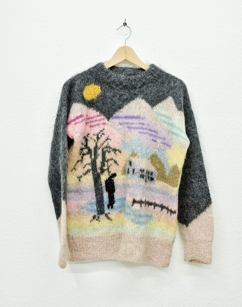 Someone Else's Dream - hanged Reworked knitted jumper, mixed fibres 2014 – 2016 Freddie Robins